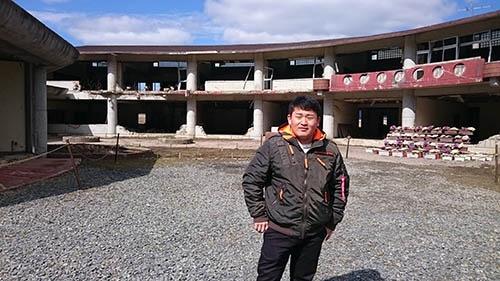 津波にのまれながらも奇跡的に助かった、当時小学校5年生の只野哲也さん(18歳)も、4月から大学に入学する(筆者撮影)
