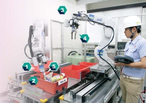 """<span class=""""fontBold"""">三菱電機のシステムは自社開発の小型の3Dカメラが強み</span>(写真=行友 重治)"""