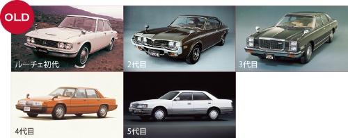 """<span class=""""fontBold"""">モノ造り革新以後に登場した車種はどれもそっくり。一方、往時のマツダは同じ「ルーチェ」でも、初代から最終の5代目まで、モデルチェンジごとに「個性」が変わっている</span>"""