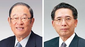 <b>1960年、張富士夫(現・名誉会長、左)と池渕浩介(元・副会長)がトヨタに入社。のちに大野耐一の下でトヨタ生産方式の神髄を徹底的に叩き込まれることになる</b>(写真提供=トヨタ)