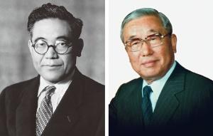 <b>トヨタの創業者、豊田喜一郎(左)と、喜一郎のいとこで後に第5代社長となる豊田英二は、トヨタ生産方式を推し進める大野耐一を支持した</b>(写真提供=トヨタ)