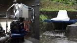 水道管と用水路が「発電所」に