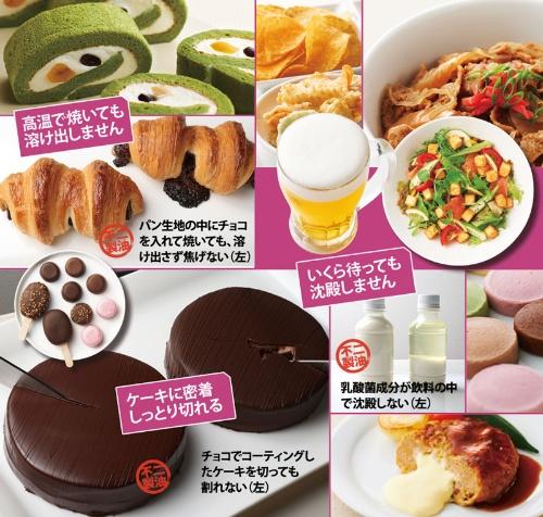 (写真=3点:陶山 勉(チョコパン、チョコケーキ、乳酸菌飲料))