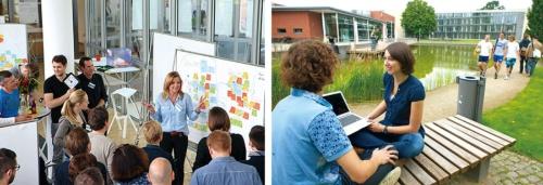 <b>ドイツのポツダム大学内にあるハッソ・プラットナー・インスティテュート。創設者のプラットナー氏は今もここで教壇に立つ</b>