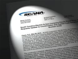 <b>米スキャナ電力のプレスリリース。建設中の「VCサマー2・3号機」について、一定額以上のコスト負担を拒否するという内容</b>