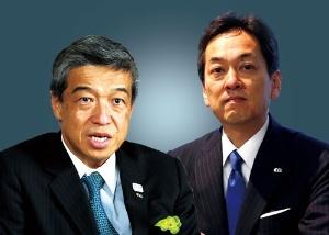 <b>大西洋社長(左)は、事実上の更迭となり、杉江俊彦取締役専務執行役員(右)に社長の座を譲ることとなった</b>(写真=2点:北山 宏一)