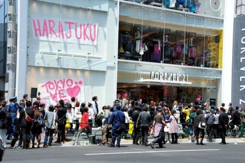 """<span class=""""fontBold"""">長蛇の列ができていたが、今は閉鎖した「フォーエバー21」の店舗</span>(写真=Fujifotos/アフロ)"""