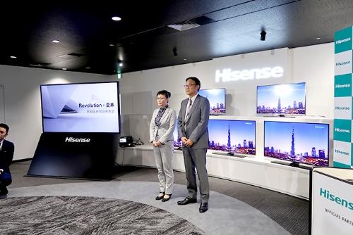 "<span class=""fontBold"">中国ハイセンスは東芝テレビ部門の技術を生かし、国内市場を開拓する</span>"