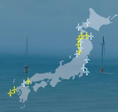 新法成立で開発が加速する<br /><span>●洋上風力発電の開発計画</span>
