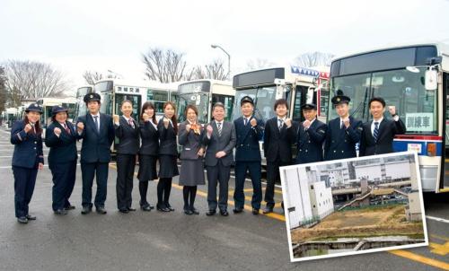 <b>茨城県水戸市に本社を構える茨城交通。商圏は小さいが、従業員の賃金は上昇を続ける。下の写真はJR水戸駅前の空き地</b>(写真=2点:菊池 斉)