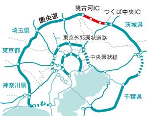 圏央道は相当部分が開通した<br /> <span>●首都圏3環状の開通状況</span>