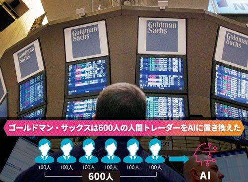 <b>株式トレーダーでごった返すニューヨーク証券取引所の様子も、AI運用の普及で様変わりするかもしれない</b>(写真=AP/アフロ)
