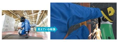 <b>高所作業、鉄管の切断作業などを疑似体験して、作業員にその危険性を認識させる</b>(写真=左2点:北山 宏一)