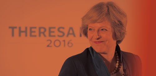 <b>当初の予定よりも2カ月早く就任した英国のテリーザ・メイ首相</b>(写真=Jason Alden/Bloomberg via Getty Images)