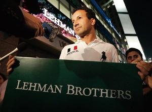 <b>米リーマン・ブラザーズの経営破綻が、その後の危機の発端となった</b>(写真=ロイター/アフロ)