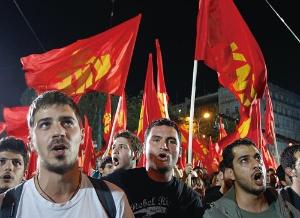 <b>財政赤字に苦しむギリシャでは、EUやドイツの求める緊縮財政に反対する意見が根強い</b>(写真=ロイター/アフロ)