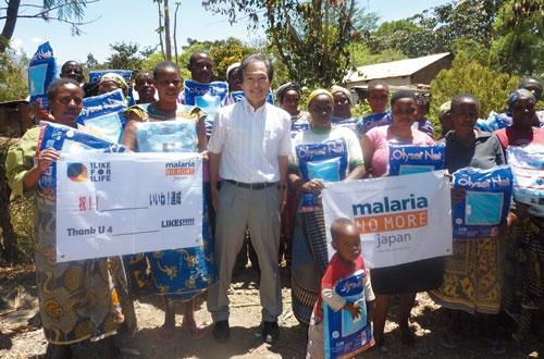<b>水野達男さんはマラリアで苦しむ人々を救うため、頻繁にアフリカへと足を運ぶ</b>