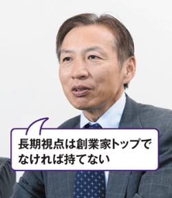 <span>ロート製薬 創業家4代目社長</span><br />山田邦雄<span>会長兼CEO</span>