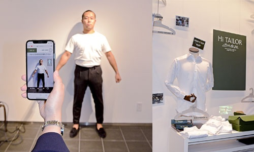"""<span class=""""fontBold"""">三越伊勢丹の「Hi TAILOR」は、百貨店品質のオーダーシャツを自宅から注文できるようにすることで、20~30代のビジネスパーソンの需要掘り起こしを狙う。来春にはシャツだけでなくスーツの販売も始める予定だ</span>"""
