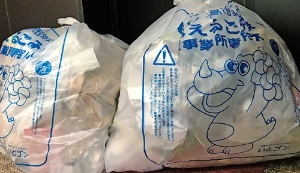 """<span class=""""fontBold"""">糸島市は10月から、事業用ごみ袋の料金(100リットル分10枚入り)を773円引き上げた。末松市民部長は本来、1市2町の合併の際に「安すぎる袋の料金の適正化に動くべきだった」と話している</span>"""