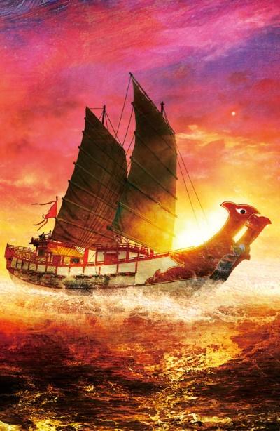 "<span class=""fontBold"">日本と唐を結んだ遣唐使船は全長30メートルほどだったと推定される。一行は2隻または4隻の船に乗り海を渡った。当初は新羅を経由する北路を通ったが、唐と新羅の関係が悪化してからは、南側の航路を通った</span>(イラスト=正子公也)"
