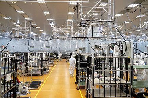 """<span class=""""fontBold"""">東京エレクトロンは生産能力の増強を続けている</span>"""