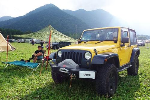 """<span class=""""fontBold"""">今年8月に富士山麓で開催されたジープのオーナーイベント</span>"""