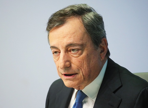 "<span class=""fontBold"">ECB総裁のドラギ氏は10月末に退任</span>(写真=ロイター/アフロ)"