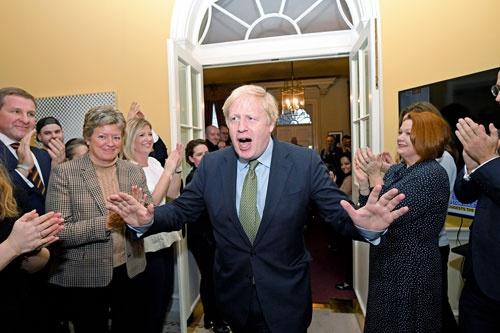 "<span class=""fontBold"">総選挙で保守党が大勝したことで、ジョンソン首相は20年1月末にはブレグジットを実現する公算が大きい</span>(写真=WPA Pool/Getty Images)"
