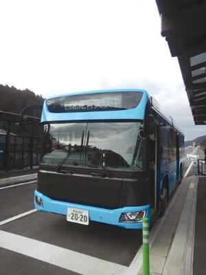 "<span class=""fontBold"">自動運転バスのデモの様子</span>"