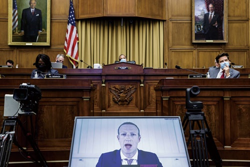 """<span class=""""fontBold"""">マーク・ザッカーバーグCEOは7月の米議会公聴会でも、インスタグラムの買収が反競争的などと批判を受けていた</span>(写真=Bloomberg/Getty Images)"""