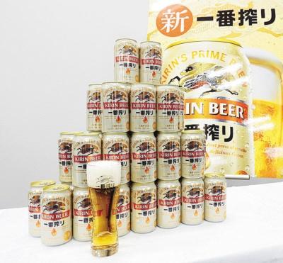 "<span class=""fontBold"">缶の一番搾りブランドは昨年10~12月の販売数量が5割増に</span>"