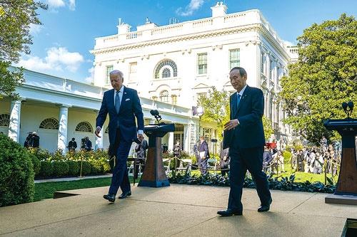 "<span class=""fontBold"">現地時間4月16日、ホワイトハウスで開催された日米首脳会談</span>(写真=Pool/Getty Images)"