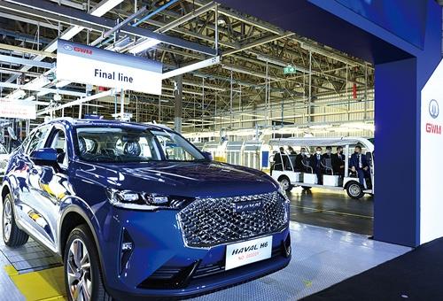 "<span class=""fontBold"">米GMの工場を改修した中国・長城汽車のタイ工場</span>"