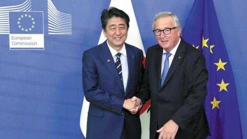 "<span class=""fontBold"">日EU経済連携協定が発効するなど、ビジネスにおける日本と欧州の距離は接近している</span>(写真=AP/アフロ)"
