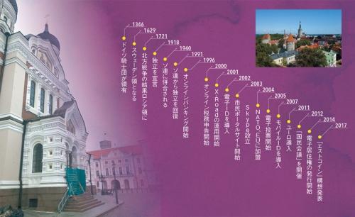 "<span class=""fontBold"">タリン旧市街にはドイツ文化の影響が色濃い(右上写真)が、国会議事堂(左写真奥)の正面には帝政ロシア時代を象徴するロシア正教会の大聖堂がそびえ立つ</span>"
