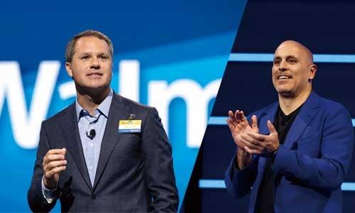 """<span class=""""fontBold"""">ダグ・マクミロンCEOはデジタル化の遂行を自らのミッションとする(左)。EC事業トップのマーク・ロア氏はEC業界の著名起業家だ(右)</span>"""