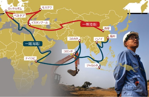 "<span class=""fontSizeM"">沿線国周辺のインフラ整備で勢力拡大</span><br> <span class=""fontSizeS"">●中国の広域経済圏構想「一帯一路」</span>"