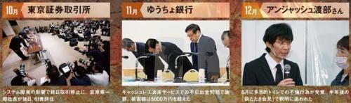 (写真=10月:AP/アフロ、11月:朝日新聞社、12月:REX/アフロ)