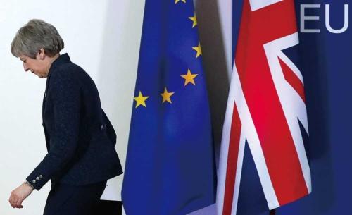 """<span class="""" fontBold"""">EUは、メイ首相に4月12日までに決断するよう「最後通告」を突きつけた</span>(写真=ロイター/アフロ)"""