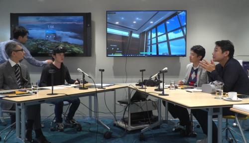 VRのシステムについて説明する武樋氏(左から3番目)