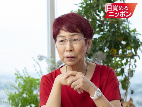 """認定NPO法人ウィメンズアクションネットワーク(WAN)理事長の上野千鶴子氏。<a href=""""https://www.u-tokyo.ac.jp/ja/about/president/b_message31_03.html"""" target=""""_blank"""">東京大学入学式の祝辞</a>が大きな話題を呼んだ(写真:的野弘路)"""
