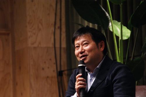 Raise LIVEに登壇したマネーフォワード代表取締役社長CEO(最高経営責任者)の辻庸介氏(写真:ドリームムービー)