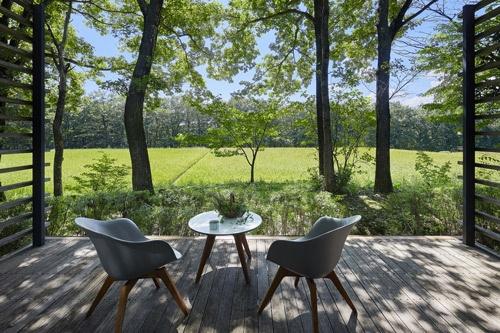 リゾナーレ那須には田んぼに面した客室がある