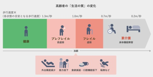 (出所:厚生労働省「2010年 国民生活基礎調査」)<br> (注:フレイル状態か否かは、医学的にも歩行速度などのいくつかの身体指標によって測定される)