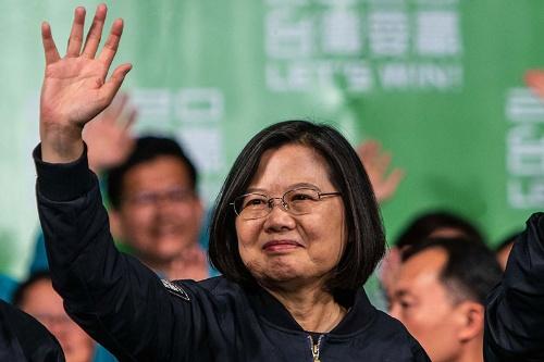 台湾総統選で再選された蔡英文氏(写真:ZUMA Press/アフロ)