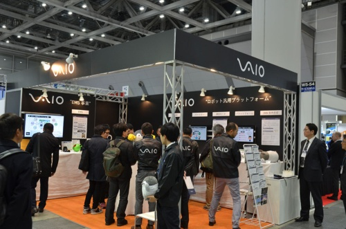 ロボットを前面に押し出すVAIOの展示ブース