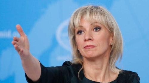 ロシアはサイバー攻撃の被害者だと訴えるロシア外務省のマリア・ザハロワ報道官(写真:ロイター/アフロ)