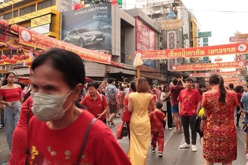 中国人観光客も多く訪れるバンコクのチャイナタウン