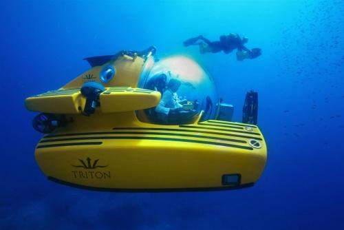米トライトンが開発する潜水艇。アクリルを用いて球体のコックピットを製造できる企業は限られているという